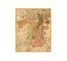 Map of Boston Massachusetts (1888) Art Print