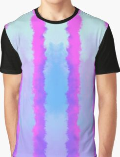 Soft Cloudy Purple on Blue Stripes Graphic T-Shirt