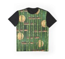 Green Bamboo Bullet Coins Graphic T-Shirt