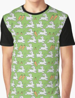 Rabbits and Carrot Graphic T-Shirt