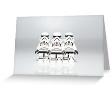 Storm Trooper Line up Greeting Card