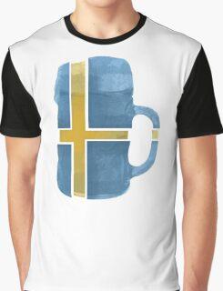 Sweden Beer Flag Graphic T-Shirt