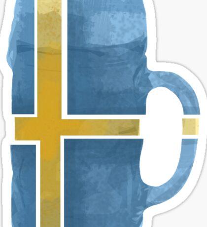 Sweden Beer Flag Sticker