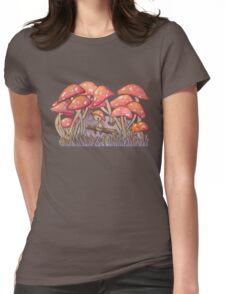 Mushroom Forest Womens Fitted T-Shirt