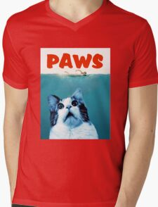 PAWS Mens V-Neck T-Shirt