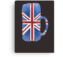UK Beer Flag Canvas Print