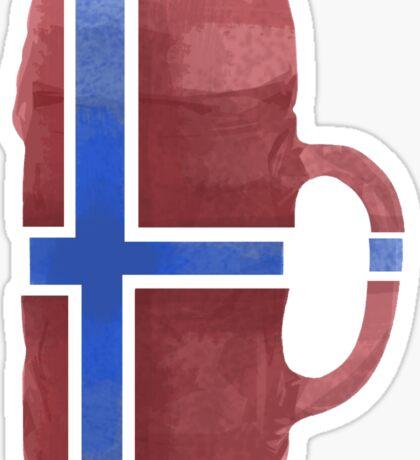 Norway Beer Flag Sticker