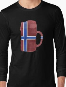 Norway Beer Flag Long Sleeve T-Shirt
