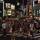 People Walking in a Busy Tokyo Intersection by Christian Eccleston