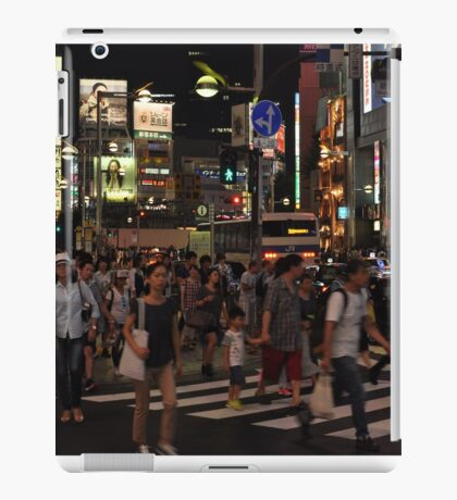 People Walking in a Busy Tokyo Intersection iPad Case/Skin