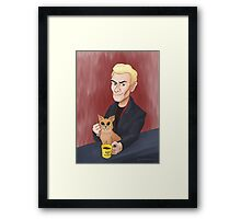 Spike and a kitten Framed Print