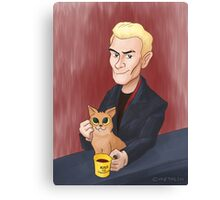 Spike and a kitten Canvas Print