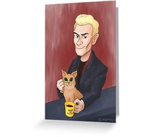 Spike and a kitten Greeting Card