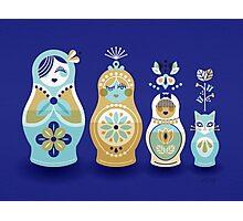 Russian Nesting Dolls – Navy Photographic Print
