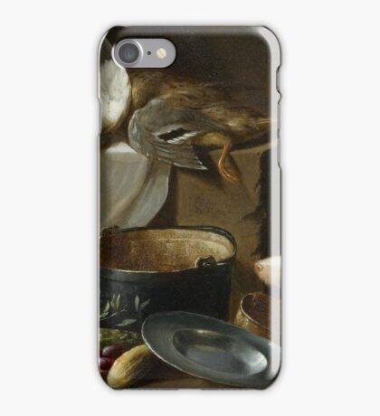 WEENIX, JAN (ATTRIBUTED) () A kitchen still life with a duck, vegetables, kitchen utensils and a dog iPhone Case/Skin
