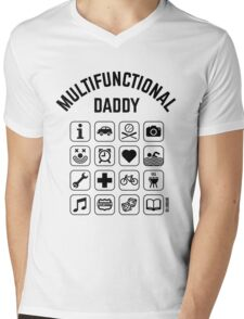 Multifunctional Daddy (16 Icons) Mens V-Neck T-Shirt