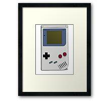 Classic GameBoy Grey Framed Print