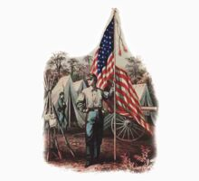 CIVIL WAR, AMERICAN, SOLDIER, UNION, ARMY, STAR SPANGLED, BANNER, USA Baby Tee