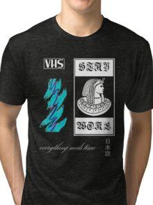 Vaporwave pharaoh aesthetics white Tri-blend T-Shirt