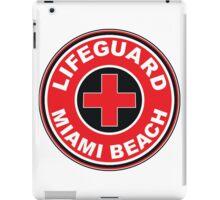 LIFEGUARD SURF PATROL MIAMI BEACH FLORIDA Surf Surfer Surfboard Waves Ocean Beach Vacation iPad Case/Skin