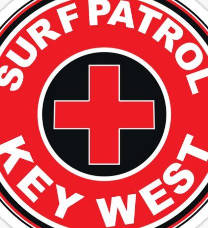 SURF PATROL LIFEGUARD  KEY WEST FLORIDA Surf Surfer Surfboard Waves Ocean Beach Vacation Sticker