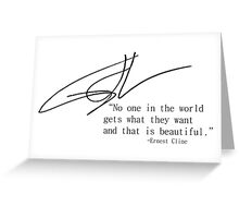 Ernest Cline Signed Quotable Greeting Card