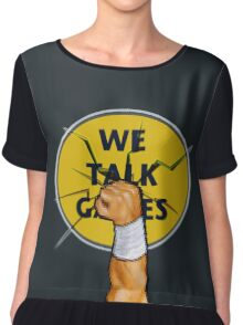 We Talk Games Punch Logo Chiffon Top