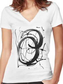 Brush It Out Women's Fitted V-Neck T-Shirt