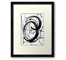 Brush It Out Framed Print