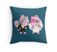 Bride & Groom Mushi Throw Pillow