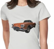 Flexing That Corvette Muscle Womens Fitted T-Shirt