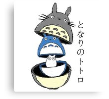 Totoro russian doll Canvas Print