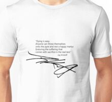 Jay Kristoff Signed Quotable Unisex T-Shirt
