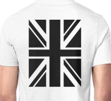 BRITISH, UNION JACK, FLAG, UK, GB, UNITED KINGDOM, PORTRAIT, IN BLACK Unisex T-Shirt