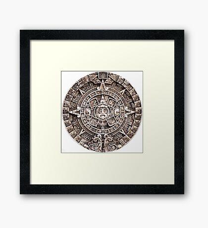 Mayan Calendar Framed Print