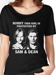 SORRY, THIS GIRL IS PROTECTED BY SAM AND DEAN Women's Relaxed Fit T-Shirt