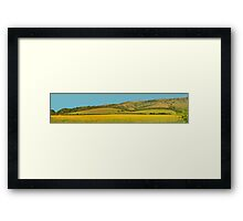 Panorama of South Downs, Sussex Framed Print