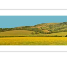 Panorama of South Downs, Sussex Sticker