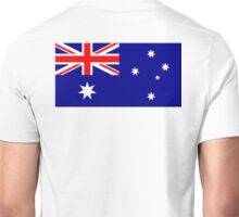 Aussies, Australian, Austrailia, Australian Flag, Flag of Australia, Pure & simple Unisex T-Shirt