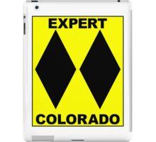 COLORADO DOUBLE BLACK DIAMOND SKIING SKI EXPERT ONLY iPad Case/Skin