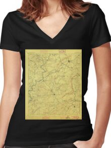 USGS TOPO Map Alabama AL Talladega 305889 1892 125000 Women's Fitted V-Neck T-Shirt