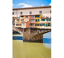 Golden Bridge, Florence Photographic Print