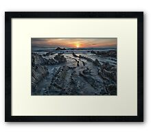 Barrika at sunset Framed Print