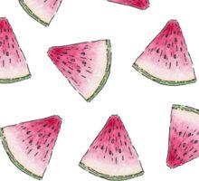 Summery Cute Watercolor Watermelon Slices Pattern Sticker