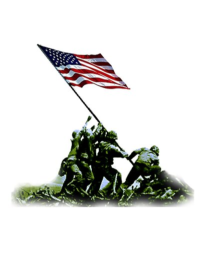 American War Flag, USA, Raising the Colours, Iwo Jima, America, Americana, WW2, WWII by TOM HILL - Designer