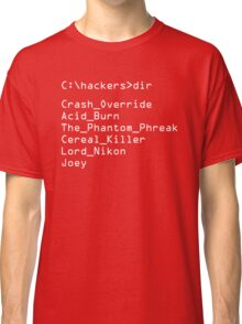 Hackers Movie - C: Cast of Characters Classic T-Shirt