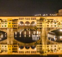 Golden Bridge, Florence Sticker