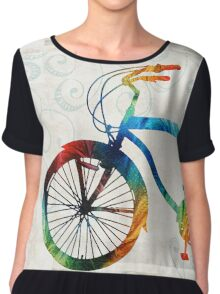 Colorful Bike Art - Free Spirit - By Sharon Cummings Chiffon Top