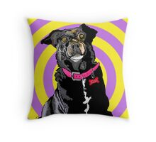 Hypno Doggie Throw Pillow