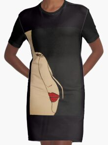 BLOOD Graphic T-Shirt Dress